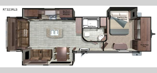 Open Range Roamer RT323RLS Floorplan