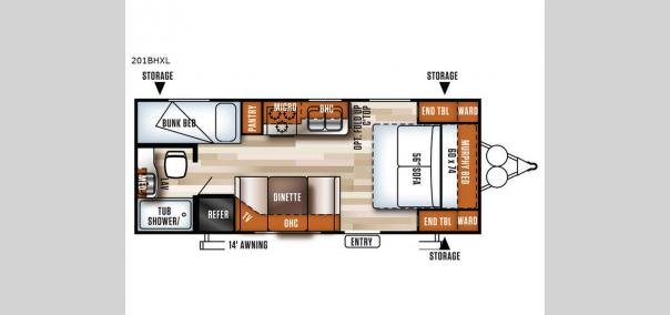 Salem Cruise Lite 201BHXL Floorplan