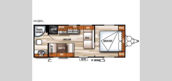 Salem Cruise Lite 241QBXL Floorplan