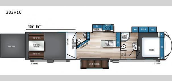 Vengeance Rogue Armored 383V16 Floorplan