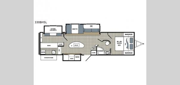 Kodiak Ultimate 330BHSL Floorplan