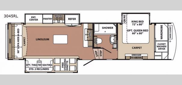 Blue Ridge 3045RL Floorplan