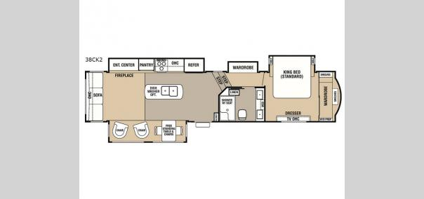 Cedar Creek Hathaway Edition 38CK2 Floorplan