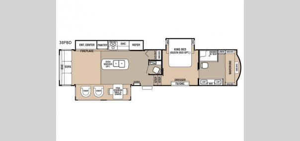 Cedar Creek 38FBD Floorplan