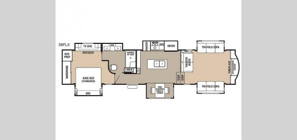 Cedar Creek Hathaway Edition 38FLX Floorplan