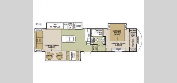 Cedar Creek Silverback 33IK Floorplan