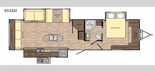 Sunset Trail Grand Reserve 33SI Floorplan