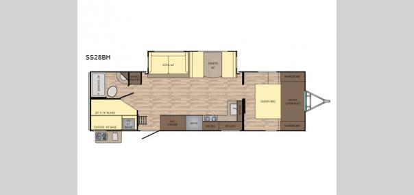 Sunset Trail Grand Reserve SS28BH Floorplan