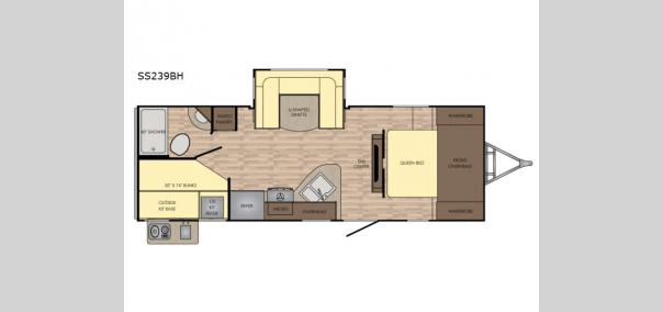 Sunset Trail Super Lite 239BH Floorplan