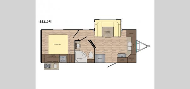 Sunset Trail Super Lite SS210FK Floorplan