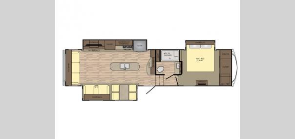 Cruiser 3391RL Floorplan
