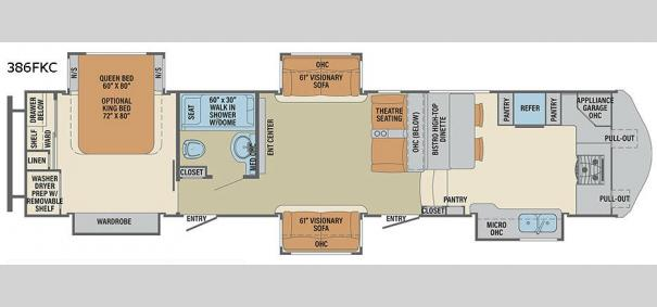 Columbus Compass 386FKC Floorplan