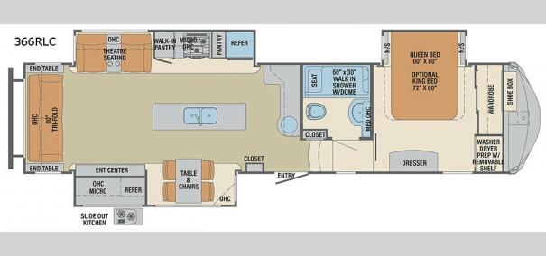 Columbus Compass 366RLC Floorplan