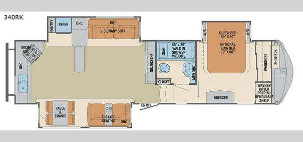 Columbus F340RK Floorplan