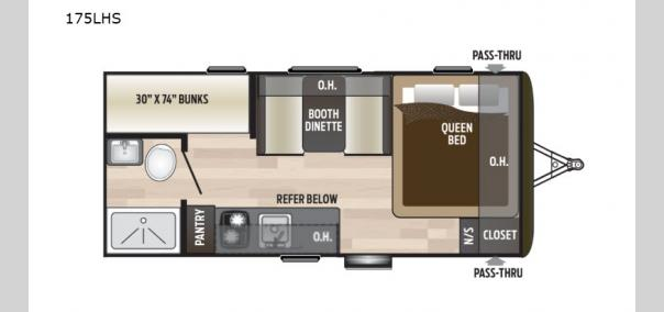 Hideout Single Axle 175LHS Floorplan
