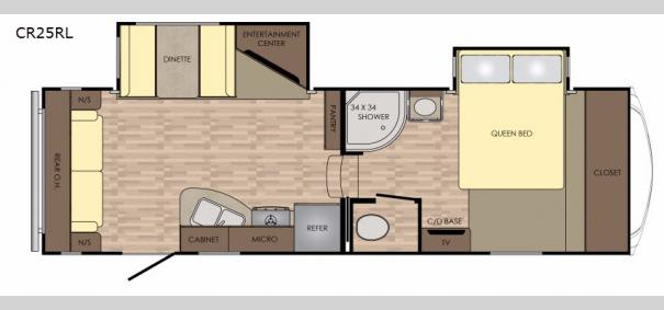 Cruiser Aire 25RL Floorplan
