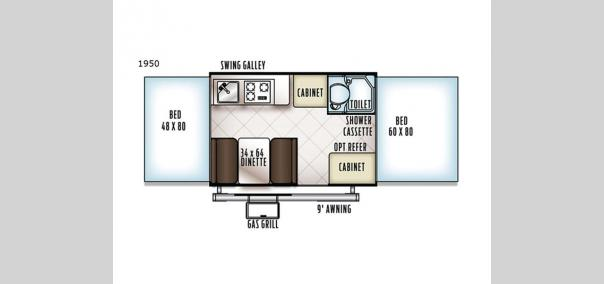 Rockwood Freedom Series 1950 Floorplan