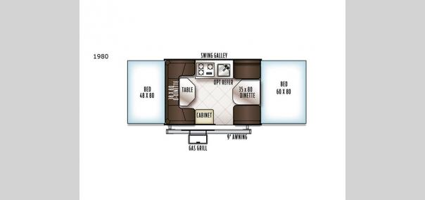 Rockwood Freedom Series 1980 Floorplan