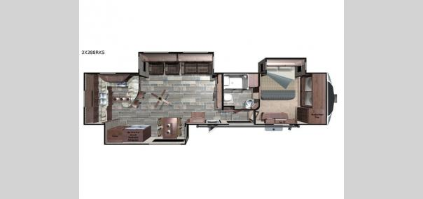 Open Range 3X 388RKS Floorplan