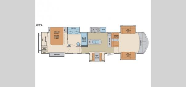 Columbus 389FL Floorplan