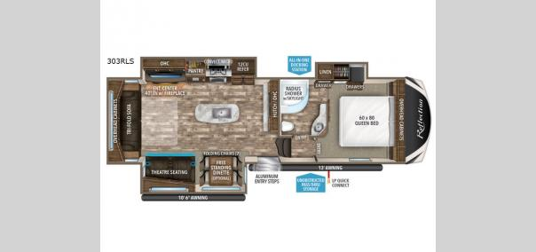 Reflection 303RLS Floorplan