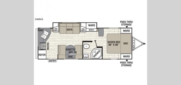 Freedom Express 246RKS Floorplan