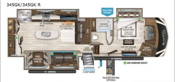 Solitude 345GK Floorplan