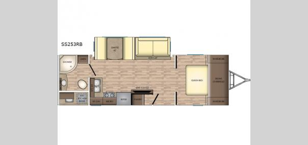Sunset Trail Super Lite SS253RB Floorplan
