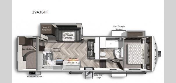 Astoria 2943BHF Floorplan