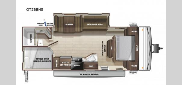 Open Range Conventional OT26BHS Floorplan