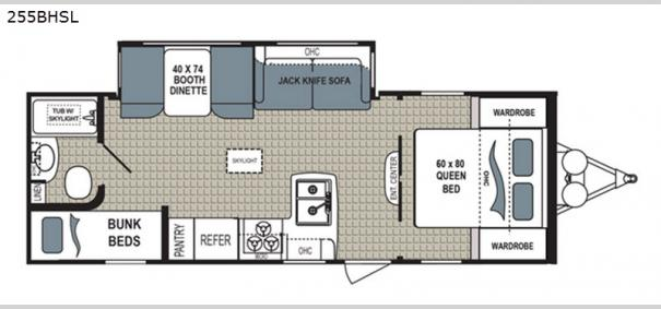 Kodiak Ultra Lite 255BHSL Floorplan