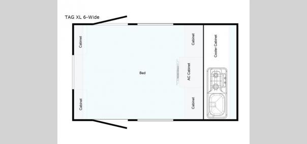 T@G XL 6-Wide Outback Floorplan