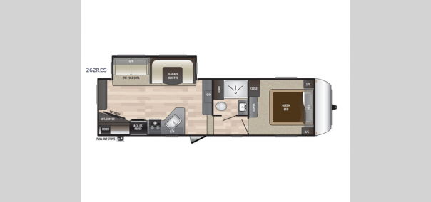 Hideout 262RES Floorplan