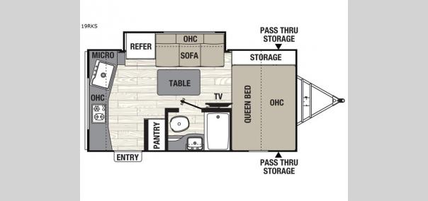 Freedom Express Pilot 19RKS Floorplan