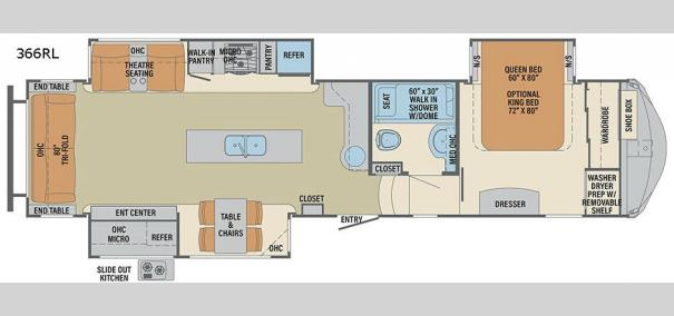 Columbus 1492 366RL Floorplan