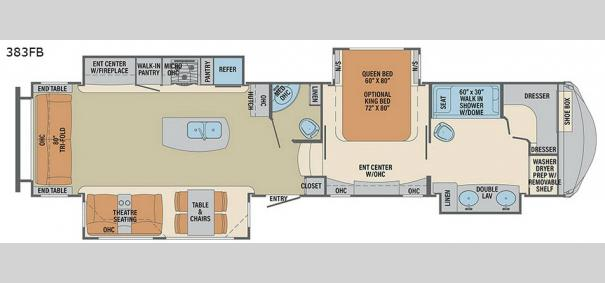 Columbus 1492 383FB Floorplan