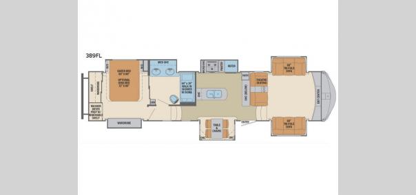 Columbus 1492 389FL Floorplan