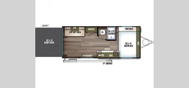 Wildwood FSX 180RT Floorplan