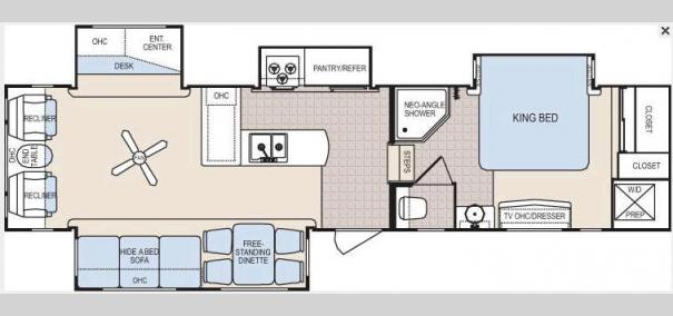 Grand Junction 34QRL Floorplan