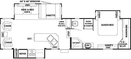 Cedar Creek 34 CKTS Floorplan
