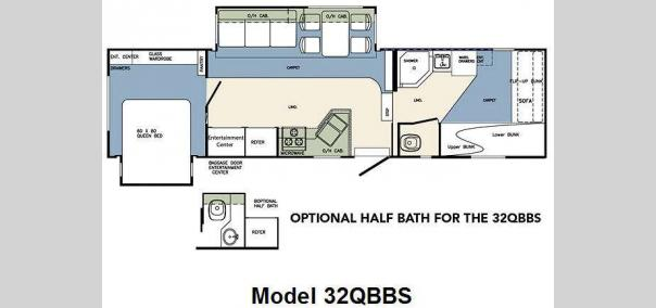 Wildcat 32QBBS Floorplan