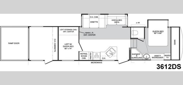 Raptor 3612DS Floorplan
