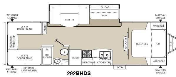 Freedom Express 292BHDS Floorplan