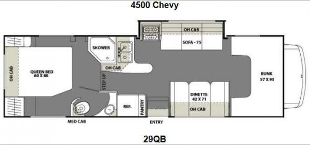 Freelander 29QB Chevy 4500 Floorplan