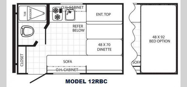 Canyon Cat 12RBC Floorplan