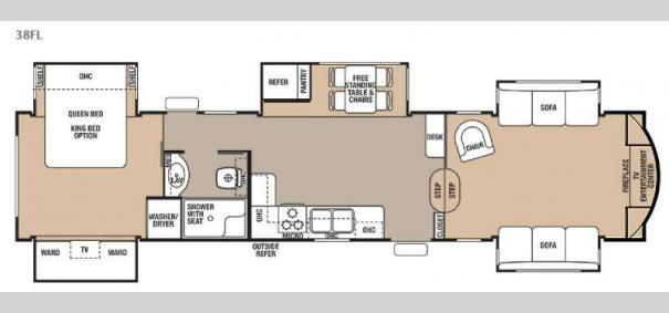 Cedar Creek 38FL Floorplan