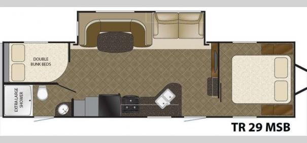 Trail Runner 29MSB Floorplan