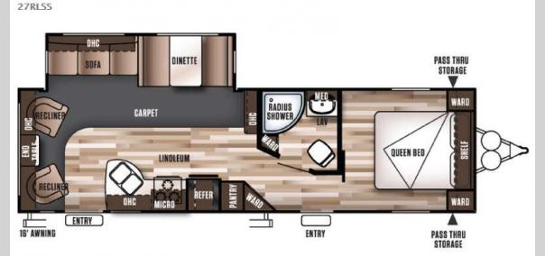 Wildwood 27RLSS Floorplan