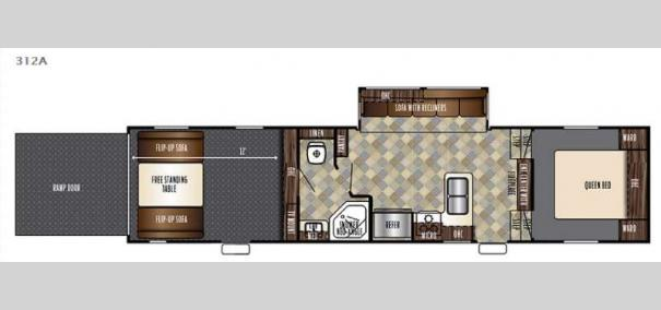 Vengeance Super Sport 312A Floorplan