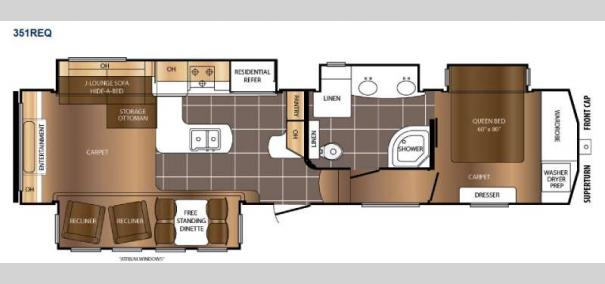 Crusader 351REQ Floorplan